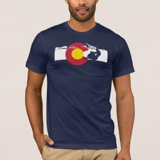 Colorado Flag T-Shirt - Snow Mobile