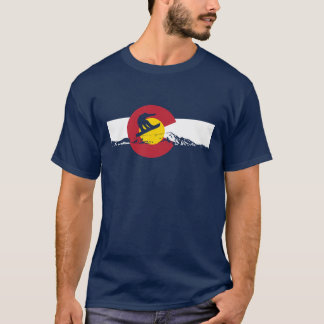 Colorado Flag T-Shirt - Snowboarder - Snowboard