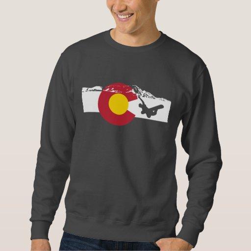 Colorado Flag T-Shirt - Snowboarder - Snowboard