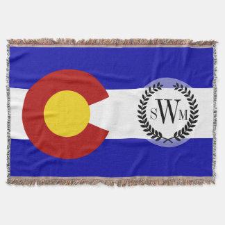 Colorado flag throw
