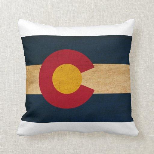 Colorado Flag Throw Pillows