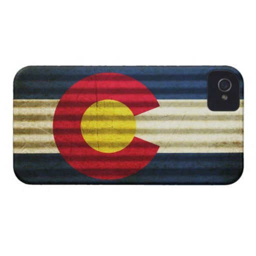 Colorado Flag Tin Roof iPhone 4 Case