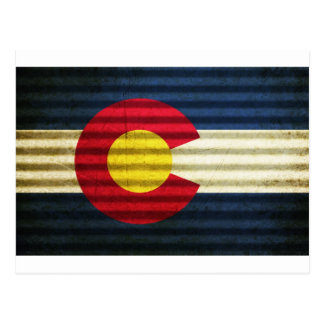 Colorado Flag Tin Roof Postcard