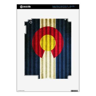 Colorado Flag Tin Roof Skins For iPad 3