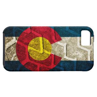 Colorado Flag Tire Tread iPhone 5 Cases