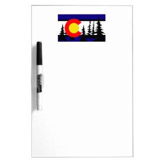 Colorado Flag Tree Silhouette Dry Erase Board