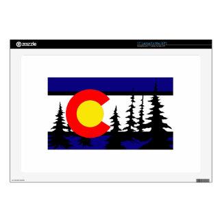 Colorado Flag Tree Silhouette Laptop Decals