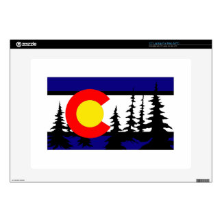 Colorado Flag Tree Silhouette Skin For Laptop