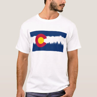 Colorado Flag Treeline Silhouette T-Shirt
