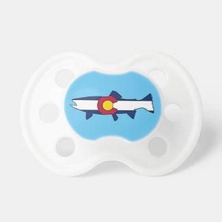 Colorado flag trout fish baby pacifier
