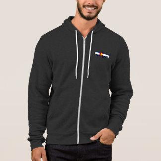 Colorado flag trout fish mens zip hoodie