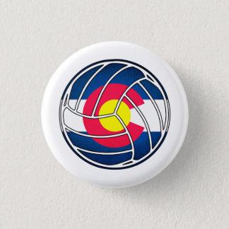 Colorado flag volleyball round button