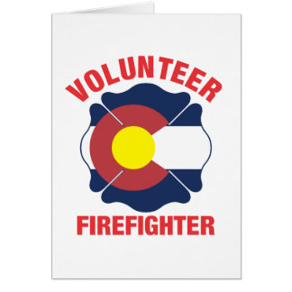 Colorado Flag Volunteer Firefighter Cross Greeting Card