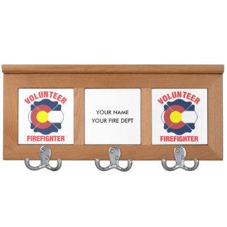 Colorado Flag Volunteer Firefighter Cross Coat Rack