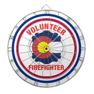 Colorado Flag Volunteer Firefighter Cross Dart Boards