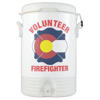 Colorado Flag Volunteer Firefighter Cross Igloo Beverage Dispenser