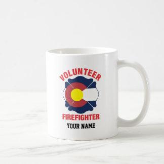 Colorado Flag Volunteer Firefighter Cross Classic White Coffee Mug