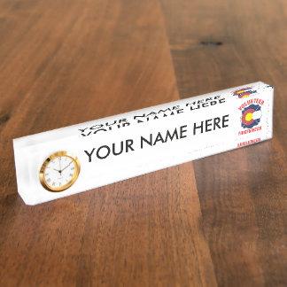 Colorado Flag Volunteer Firefighter Cross Nameplate