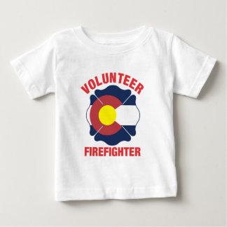 Colorado Flag Volunteer Firefighter Cross Tshirt