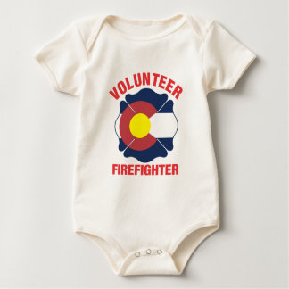 Colorado Flag Volunteer Firefighter Cross Bodysuit