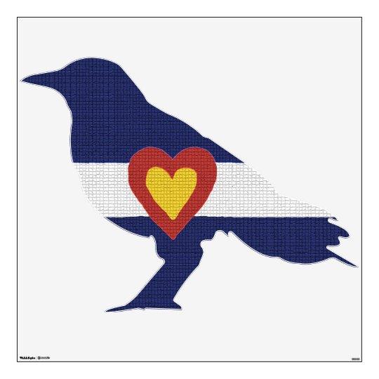 Colorado Flag Wall Decal, In the shape of a Bird Wall Sticker