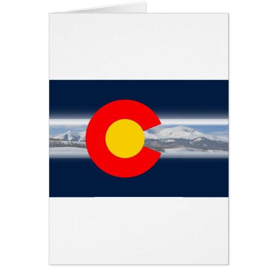 Colorado Flag with Mountains Card