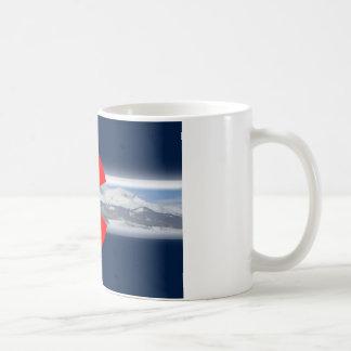 Colorado Flag with Mountains Coffee Mug