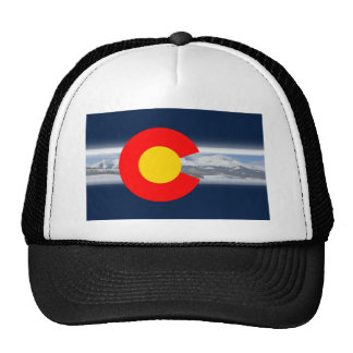Colorado Flag with Mountains Trucker Hat
