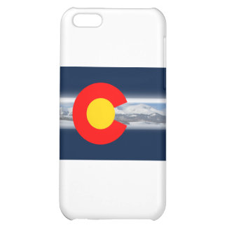 Colorado Flag with Mountains iPhone 5C Case