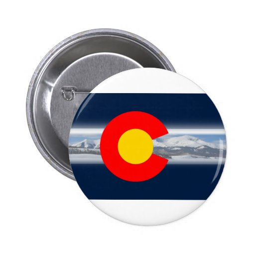 Colorado Flag with Mountains Pins