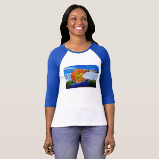Colorado Flag Women's Raglan T-Shirt
