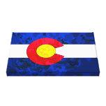 COLORADO FLAG Wrapped Canvas Print