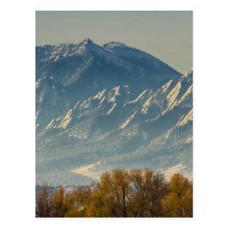 Colorado Flatiron Autumn View Postcard