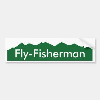 Colorado Fly-Fisherman Car Bumper Sticker