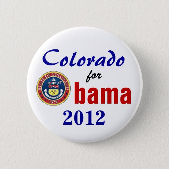 Colorado for Obama 2012 Button