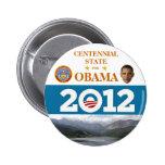 COLORADO for Obama 2012 political pinback button