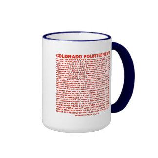 Colorado Fourteener Taza De Dos Colores