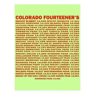 Colorado Fourteener's Postcard