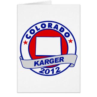 Colorado Fred Karger Card