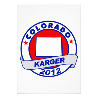 Colorado Fred Karger Personalized Announcement