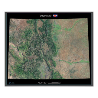 Colorado from space satellite poster