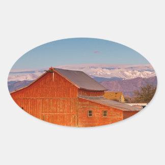 Colorado Front Range Farming Oval Sticker