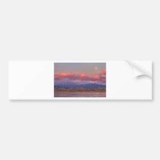 Colorado Front Range Longs Peak Full Moon Sunrise Bumper Sticker