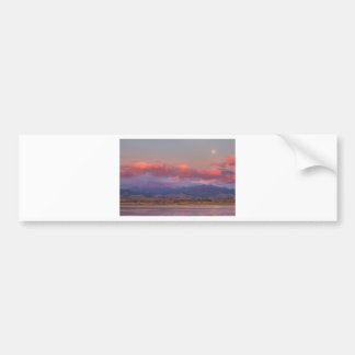 Colorado Front Range Longs Peak Full Moon Sunrise Car Bumper Sticker