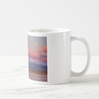 Colorado Front Range Longs Peak Full Moon Sunrise Coffee Mug