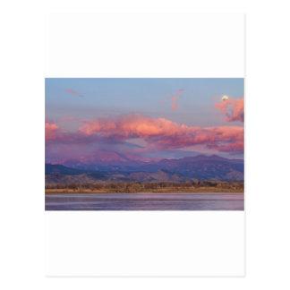 Colorado Front Range Longs Peak Full Moon Sunrise Postcard