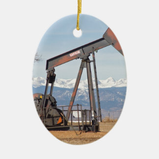 Colorado Front Range Oil Well Pump Ceramic Ornament