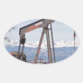 Colorado Front Range Oil Well Pump Oval Sticker