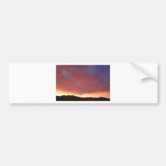 Colorado Front Range Sunset Car Bumper Sticker