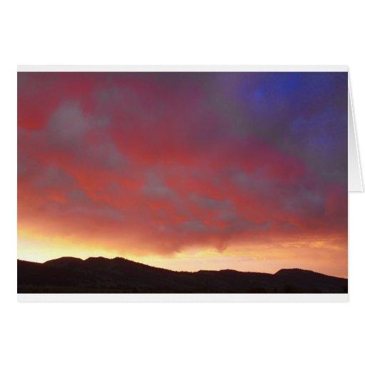 Colorado Front Range Sunset Card